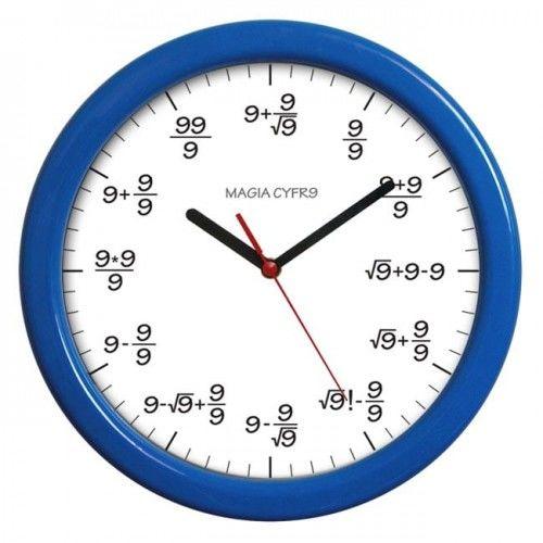 Zegar kolorowy matematyka #9