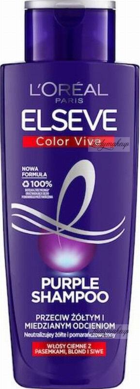 L''Oréal - ELSEVE - Color Vive - Purple Shampoo - Fioletowy szampon przeciw żółtym i miedzianym odcieniom - Włosy ciemne z pasemkami, blond i siwe - 200 ml