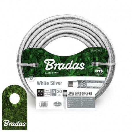 """Wąż ogrodowy 3/4"""" 20m NTS WHITE SILVER WWS3/420 BRADAS 5366"""