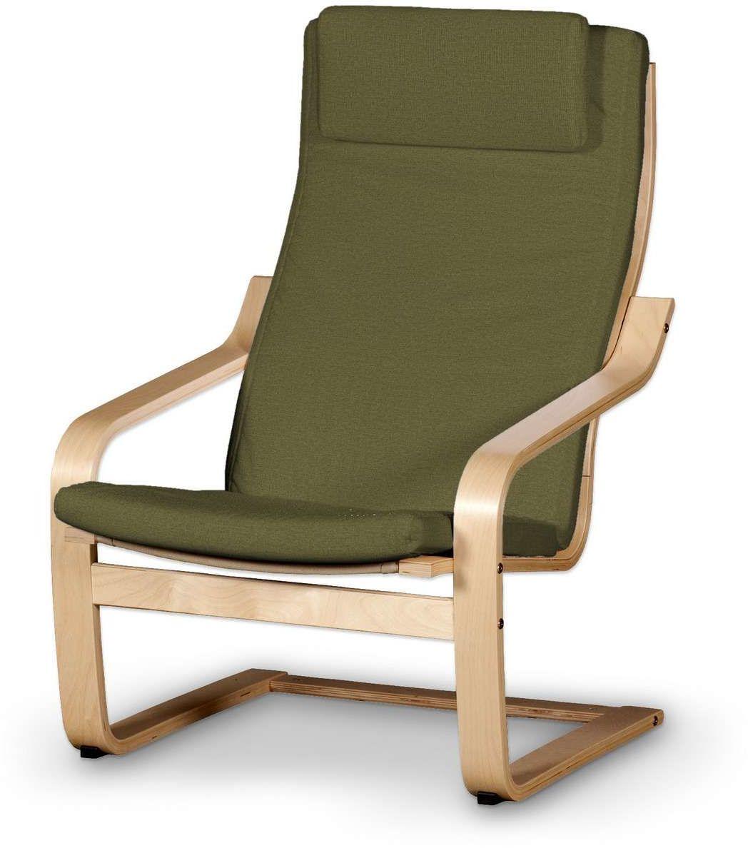Poduszka na fotel Poäng II, oliwkowa zieleń, Fotel Poäng II, Etna