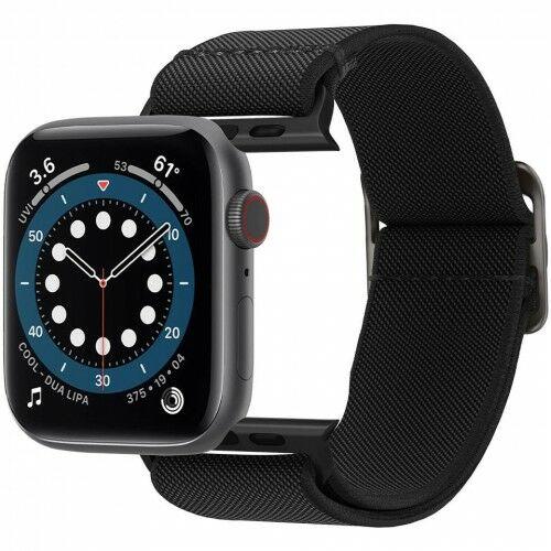 Pasek Spigen Lite Fit Apple Watch 44mm SE/6/5/4 / 42mm 3/2/1, czarny