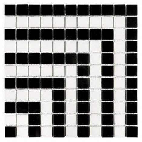 DUNIN B&W Black & White mozaika kamienna Pure Hypno B 25