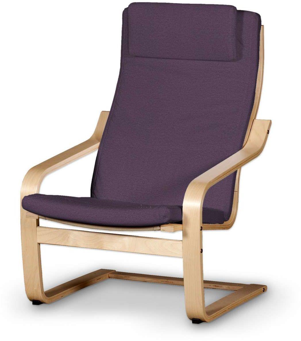 Poduszka na fotel Poäng II, fioletowy, Fotel Poäng II, Etna