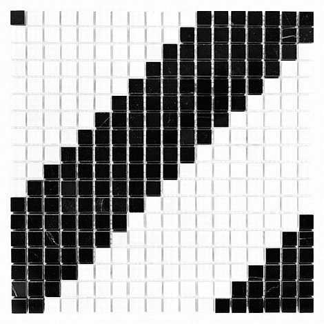 Dunin mozaika kamienna B&W Pure Diagonal 15