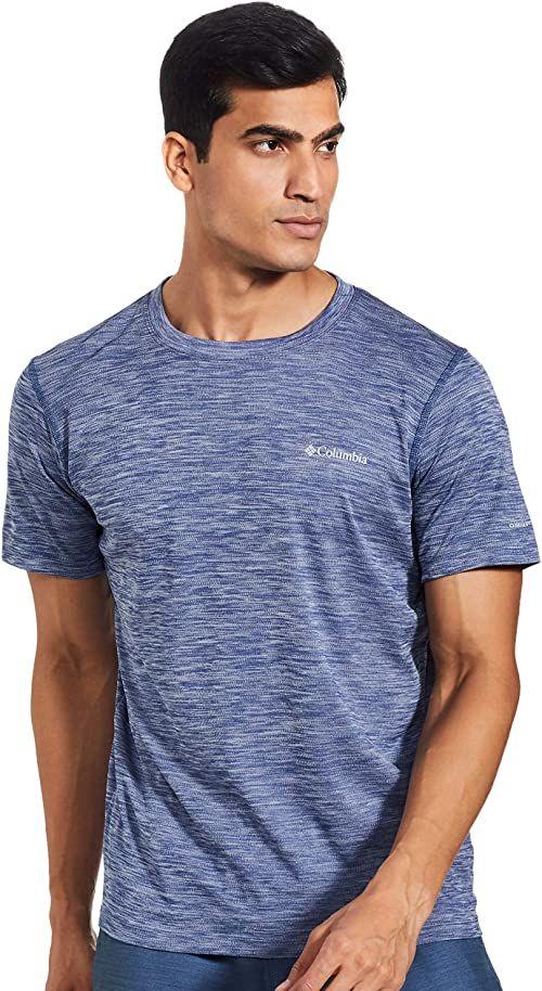 Columbia Męska koszulka Zero Rules z krótkim rękawem top z krótkim rękawem Wrzos węglowy XS