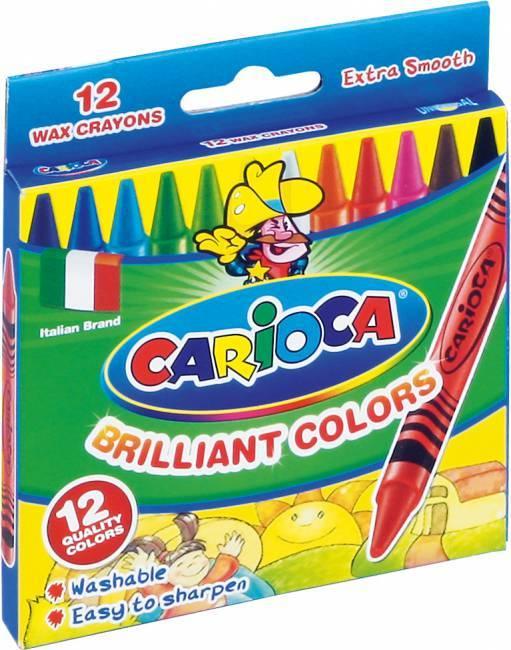 Kredki świecowe 12 kolorów CARIOCA - X00672