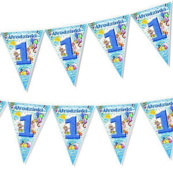 Girlanda flagi w 1 niebieskie 2m 1szt CHNX