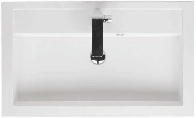 Riho Umywalka z marmuru syntetycznego 80x48 Bologna F7BO108048111