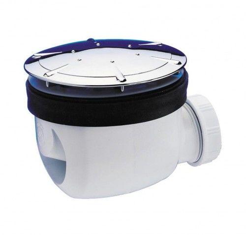 Syfon brodzika fi 90mm, z grzybkiem chrom, z szybkim odpływem
