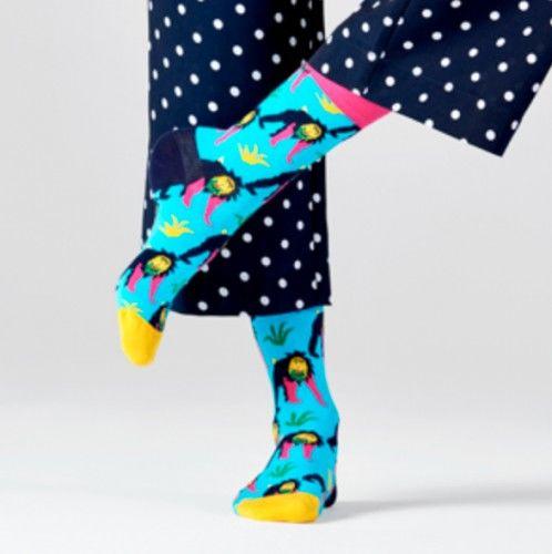 Happy Socks skarpetki MNK01-6300 MAŁPY 41-46