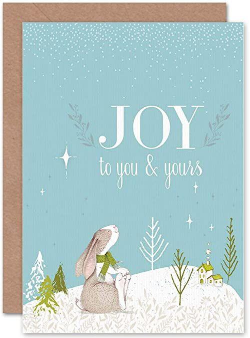 Wee Blue Coo Kartka Boże Narodzenie Boże Narodzenie Boże Narodzenie zabawny zabawny zabawny śnieg