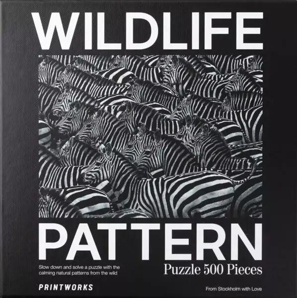 Puzzle 500 Wildlife Pattern Zebra - PRINTWORKS