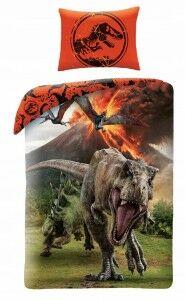 pościel dziecieca 140x200 dinozaur t-rex