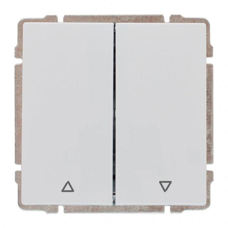 KOS66 Przycisk żaluzjowy biały 660418