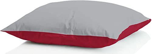 Sogni e capricci GUANC ICELAND grigio chi poduszka z puchem zimowym, 50 x 80 cm, bordowy/jasnoszary