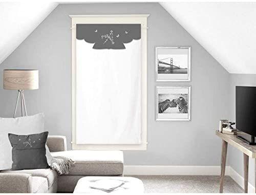 Soleil d''Ocre Ambroise zazdrostka, woal, bawełna, biała, 60 x 120 cm