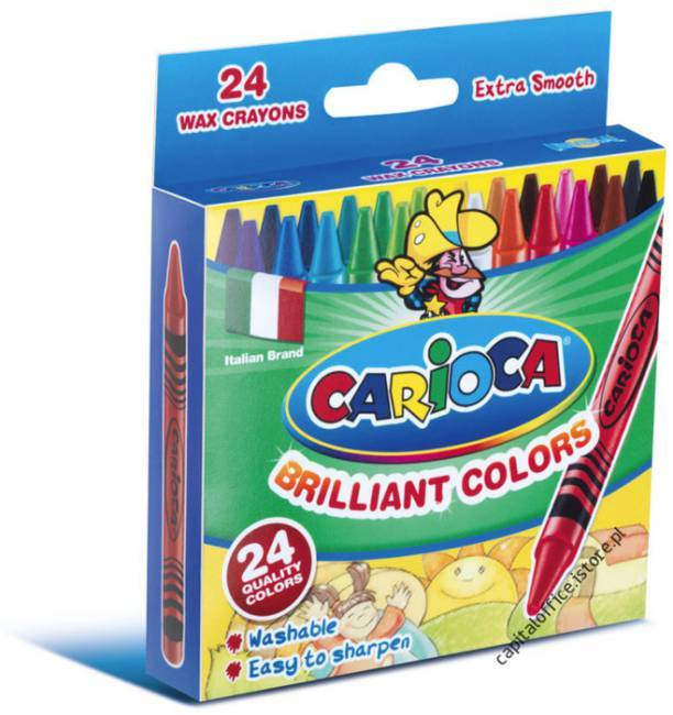 Kredki świecowe 24 kolory CARIOCA - X00673
