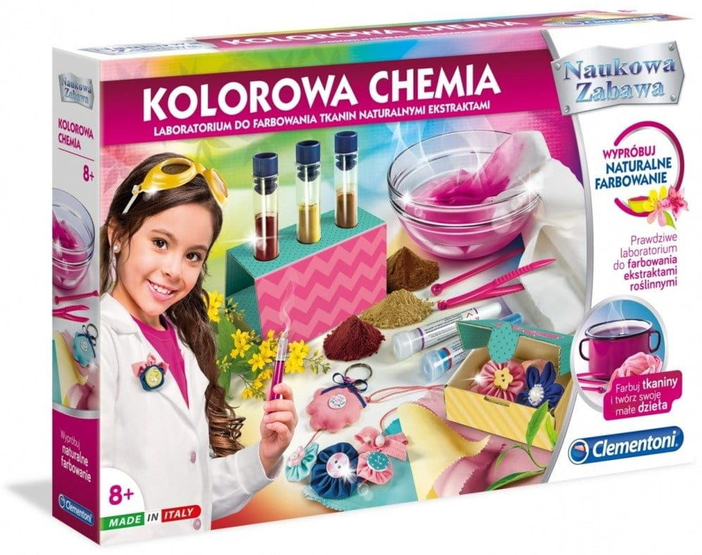 LABORATORIUM do farbowania tkanin Kolorowa chemia
