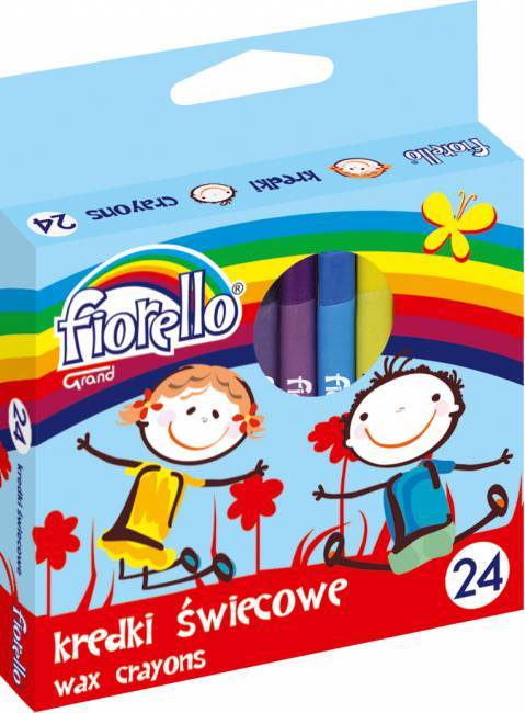 Kredki świecowe 32 kolorów FIORELLO - X00677