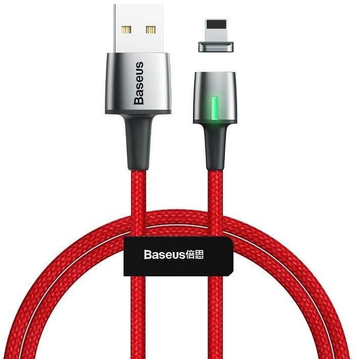 Kabel magnetyczny Lightning Baseus Zinc 2.4A 1m (czerwony)
