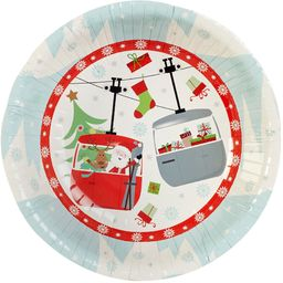 Neviti Świąteczne zabawne świąteczne papierowe miski - opakowanie 8 szt