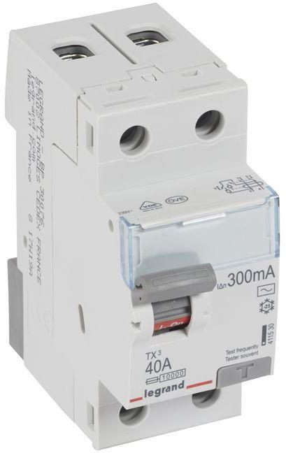 Wyłącznik różnicowoprądowy 2P 40A 0,3A typ AC P302 TX3 411530
