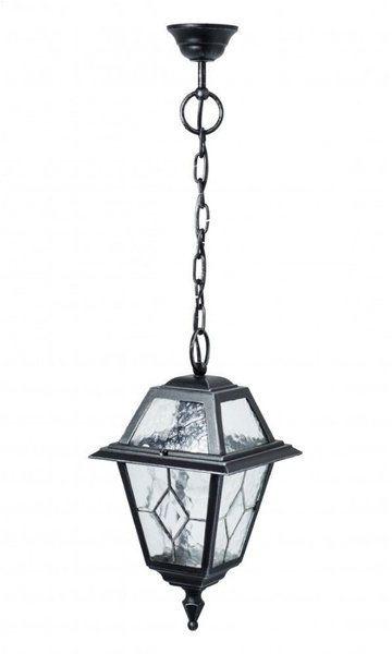 Klasyczna lampa wisząca na łańcuchu Witraż K 1018/1/NC srebrny