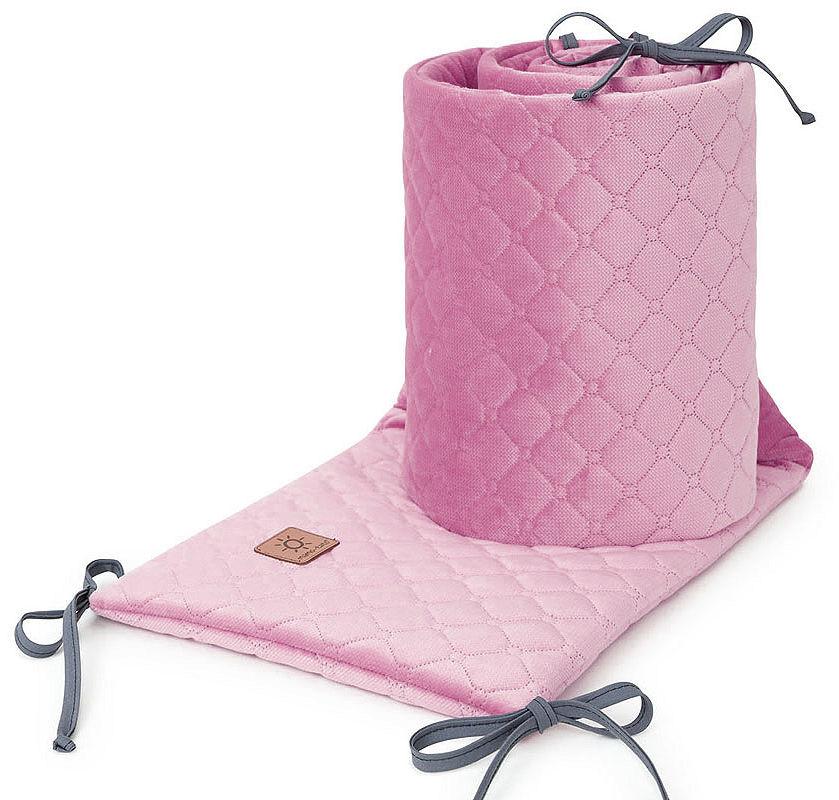 MAMO-TATO Ochraniacz do łóżeczka 60x120 oraz 70x140 Velvet PIK - Brudny róż