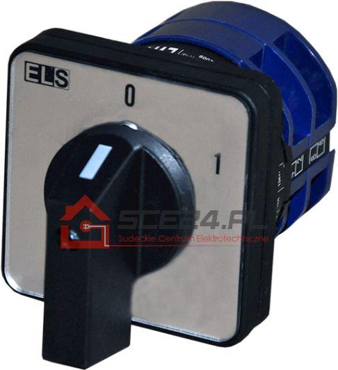 Łącznik krzywkowy 0-1 63A 3F tablicowy