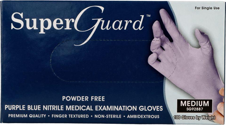 Rękawice medyczne nitrylowe bezpudrowe Super Guard