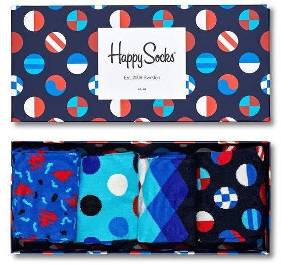 Skarpetki Happy Socks - Zestaw 4 pary XNAV09-6500