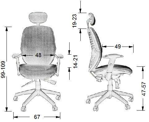 KB-912-A fotel gabinetowy - różne kolory