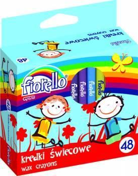 Kredki świecowe 48 kolorów FIORELLO - X00678