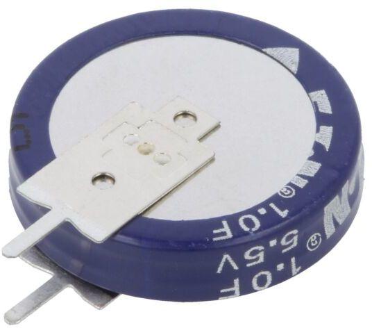 Kondensator elektrolityczny EATON ELECTRIC THT 1F 5,5V O19x5mm Raster:5mm