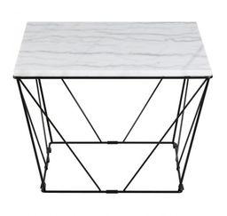 Stolik kawowy Cube kwadratowy biały marmur