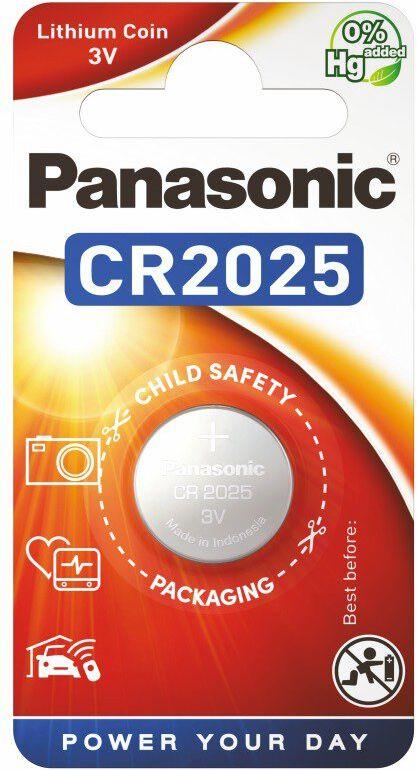 PANASONIC bateria litowa - guzikowa CR2025 1szt