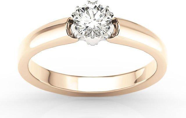 Pierścionek zaręczynowy z różowego i białego złota z brylantem 0,30ct f/vvs1 bp-2130pb-d