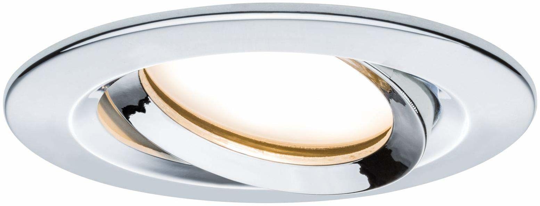 Paulmann 93683 Nova Plus LED oprawa do zabudowy, okrągła, wychylna, 1x6,8W, IP65, możliwość ściemniania, chrom, spot, aluminium, 2700K