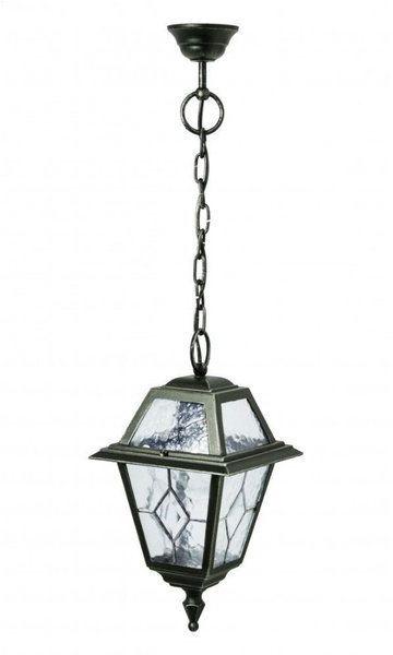 Klasyczna lampa wisząca na łańcuchu Witraż K 1018/1/NC zielony