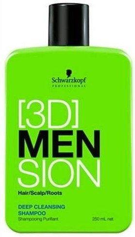 SCHWARZKOPF 3D MEN Szampon gęboko oczyszczający 1000 ml