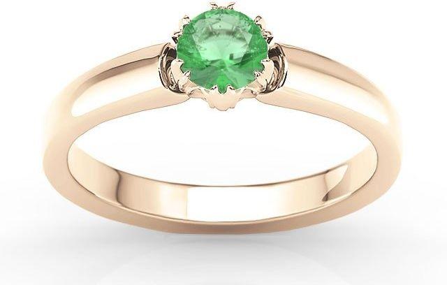 Pierścionek zaręczynowy z różowego złota ze szmaragdem bp-2130p