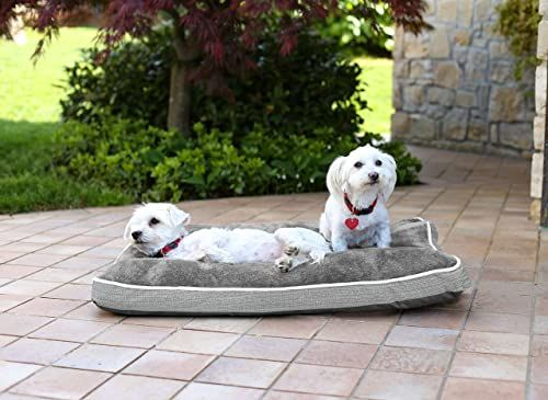 Sogni e capricci poduszka dla psa i kota na 4 pory roku, jasnoszara, 89 x 65 x 12 cm, poliester,