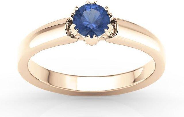 Pierścionek zaręczynowy z różowego złota z szafirem bp-2130p