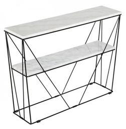 Konsola Cube z półką biały marmur