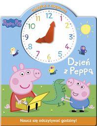 Świnka Peppa Książka z zegarem Dzień z Peppą ZAKŁADKA DO KSIĄŻEK GRATIS DO KAŻDEGO ZAMÓWIENIA