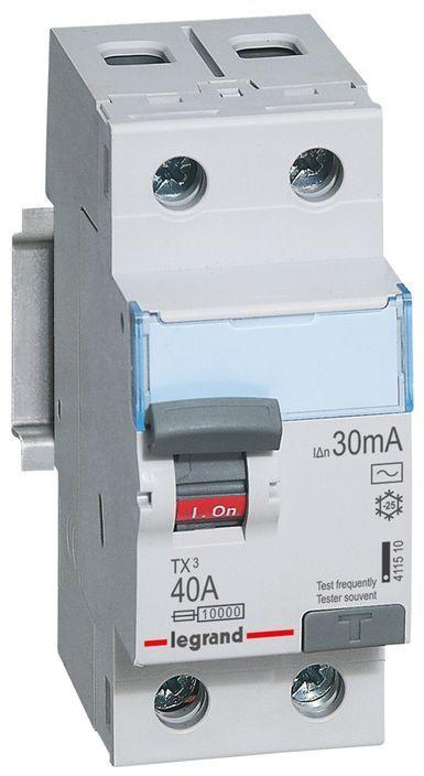 Wyłącznik różnicowoprądowy 2P 40A 0,03A typ AC P302 TX3 411510