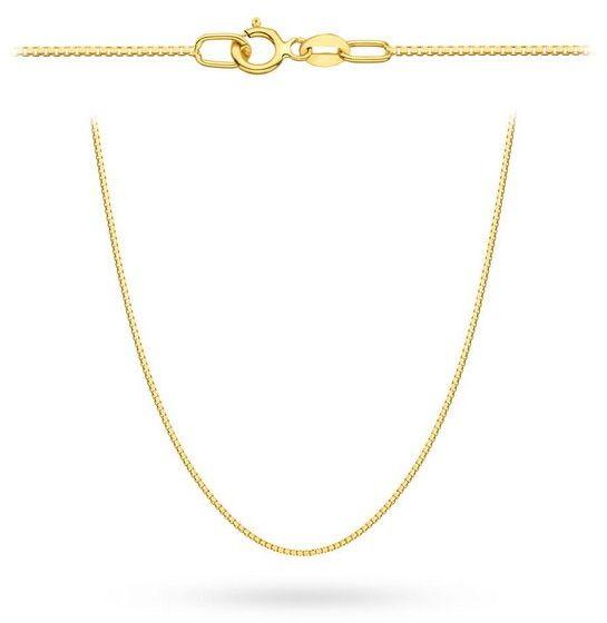 Staviori łańcuszek 45cm. żółte złoto 0,585. szerokość 0,9 mm. łańcuszek złoty typu kostka.
