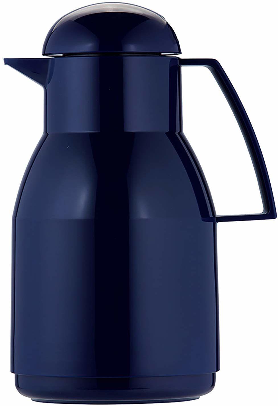 Helios Termos Top z twardego plastiku o wysokim połysku z obrotowym zamknięciem, niebieski, 1 l