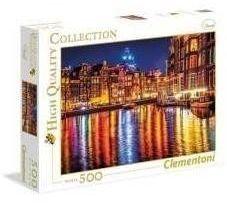 Puzzle 500 Amsterdam nocą - Clementoni