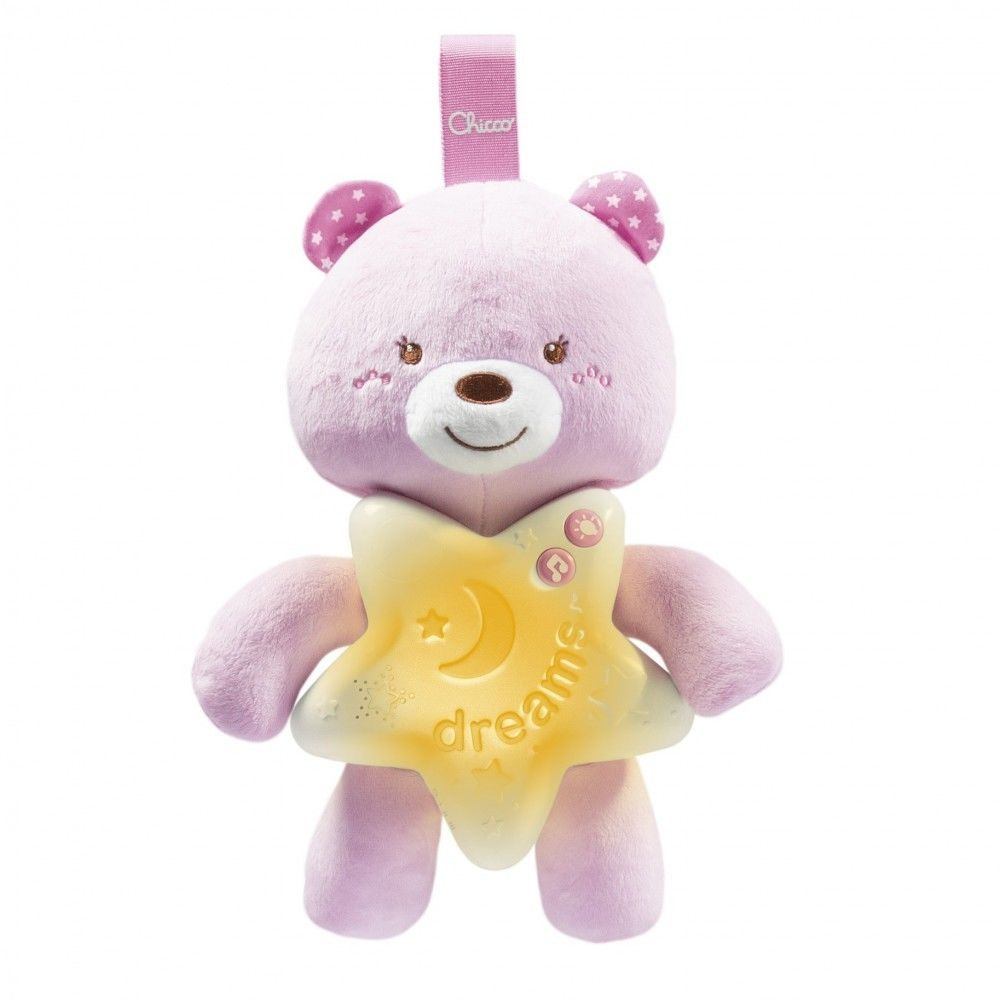 Chicco First Dreams - Miś na dobranoc Różowy 91561